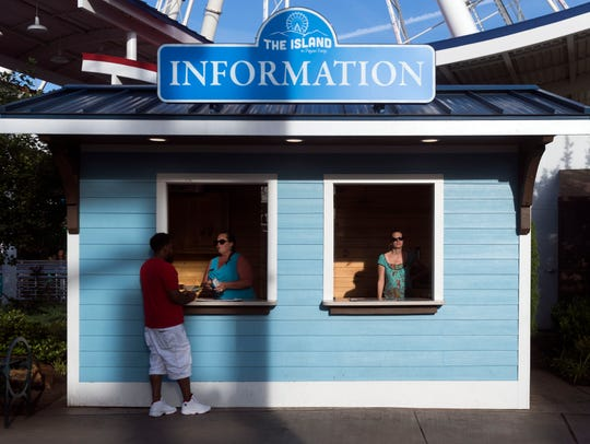Information booth at the Island in Pigeon Forge on