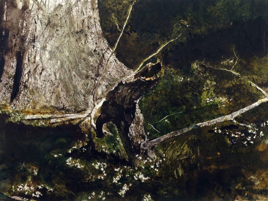 Andrew Wyeth's 'Sticks' from 1980 will be in a Delaware Art Museum show linking him and art critiic/painter John Ruskin.