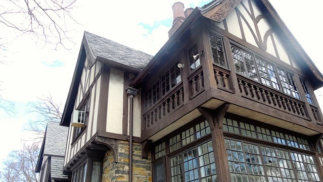 Exterior of the 1914 Tudor known as The Croft.