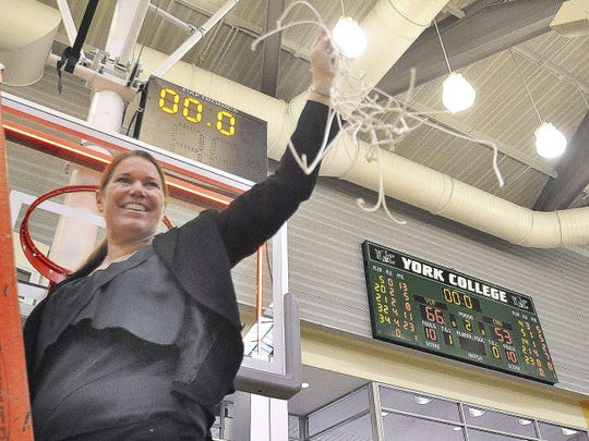 York College women's basketball coach Betsy Witman,
