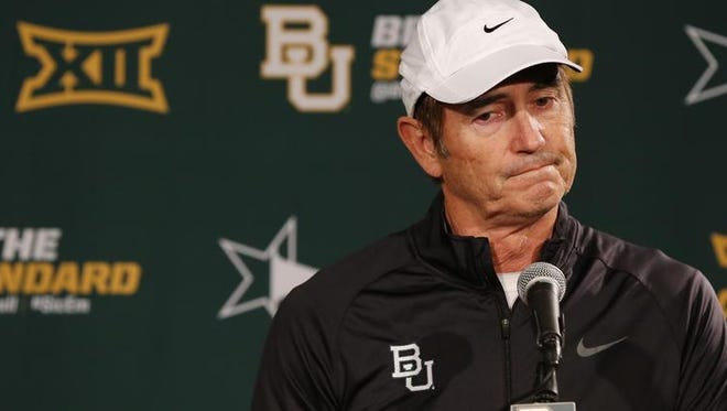 ESPN is reporting that Auburn isn't considering former Baylor head coach Art Briles for its offensive coordinator position.