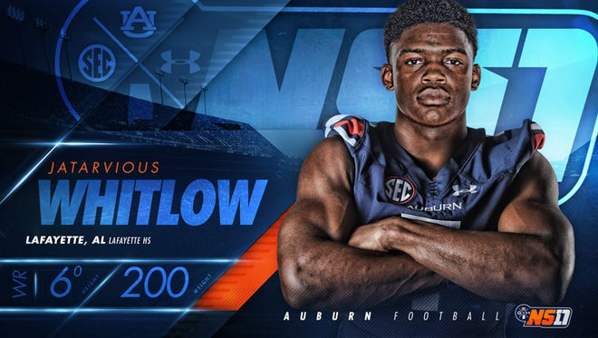Three-star athlete JaTarvious Whitlow from Lafayette surprisingly signed with Auburn Wednesday afternoon.