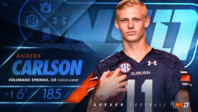 Auburn three-star kicker Anders Carlson will get to play with his brother Daniel for one season.
