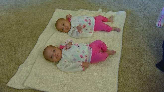 The Saunders' new twin girls