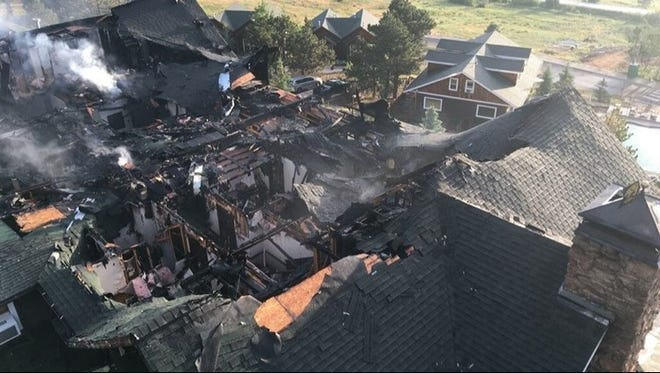 A fire gutted the main lodge of Marys Lake Lodge in Estes Park on Saturday night.