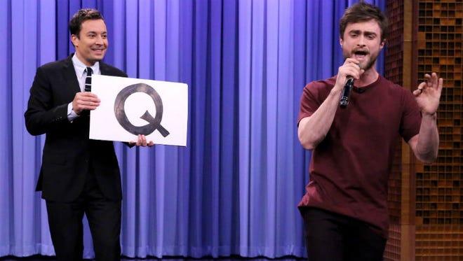 Daniel Radcliffe raps for Jimmy Fallon.