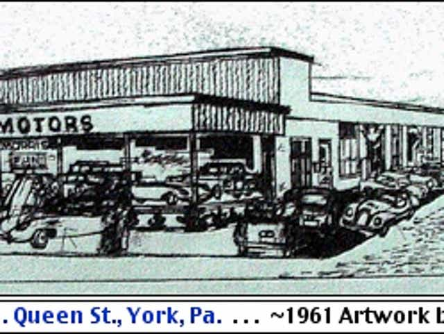 Cliff Satterthwaite Captured Early South Queen Street Auto Dealerships