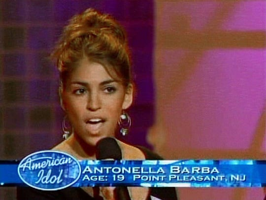 "Antonella Barba of Point . Pleasant on ""American Idol."""