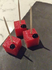Looking for creative cuisine? Check out dish Creative Cuisine, where you can coll down with these strawberry sorbet cubes.
