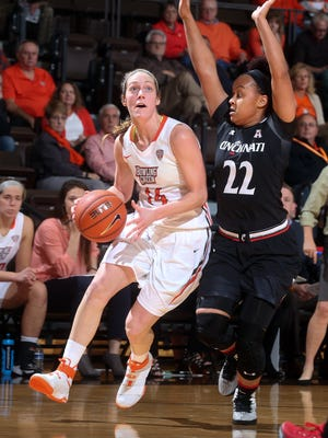 Bellevue graduate Carly Santoro leads BGSU in scoring and minutes after five games.