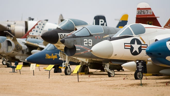 Hundreds of aircraft are on display at the Pima Air & Space Museum in Tucson.