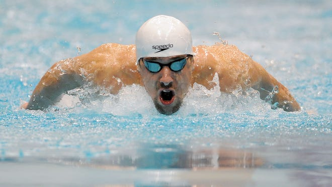 Michael Phelps, shown here swimming during his most recent Indy appearance in March 2012, could be on the U.S. roster for the 2015 Duel in the Pool at the Natatorium at IUPUI.