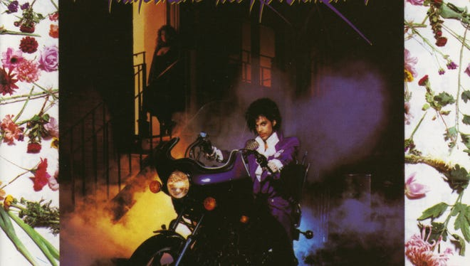 """Cover of the 1984 album """"Purple Rain"""" by Prince. The film of the same name returns to theaters this weekend in the wake of the death of the iconic musician."""