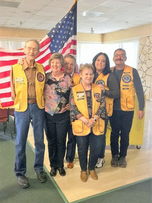 Bill Allen, left, was recognized as a lifetime member by the Ruidoso Valley Noon Lions. Allen started in the Lions Club in the 1960s in Texas and became a member of the Ruidoso Valley Noon Lions Club in the 1970s. He initiated the first eye screening program.