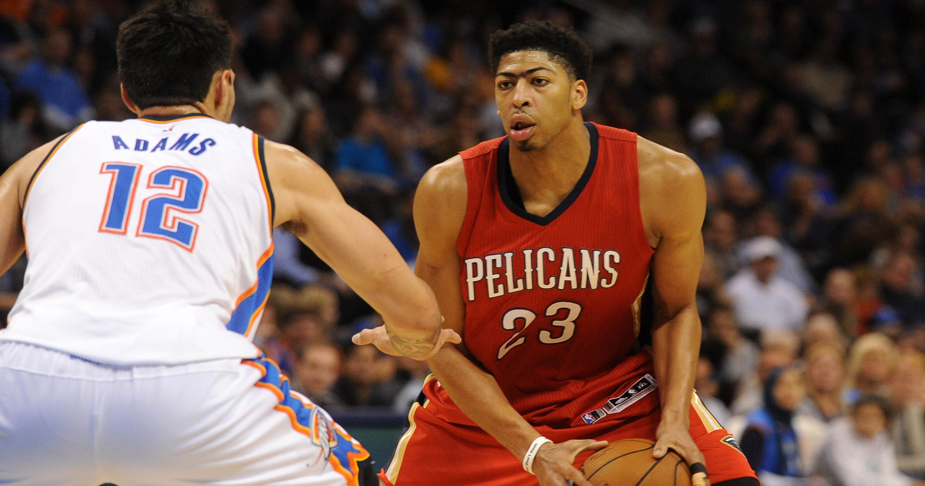 67e5efd27971 Anthony Davis leads Pelicans by Thunder as Kevin Durant sits again
