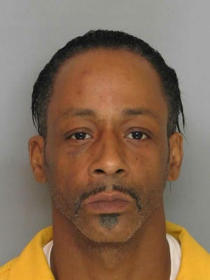 Katt Williams appears in his booking photo Tuesday in Gainesville, Ga.