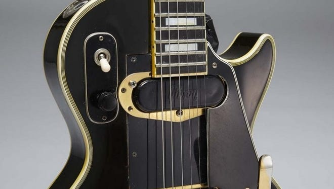 """Indianapolis Colts owner Jim Irsay purchased Les Paul's 1954 Black Custom, better known as """"Black Beauty,"""" in a Guernsey's auction Thursday night."""