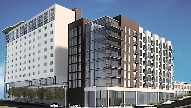 The design for Knoxville's former Supreme Court building site proposed by Dover Development Corp.