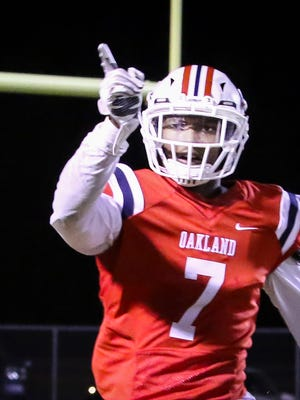 Oakland's JaCoby Stevens was named Tennessee Gatorade Player of the Year Monday.