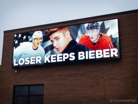 Loser Keeps Bieber billboard