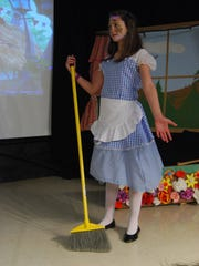 "Riley Roy portrays Goldilocks during rehearsal for ""Happily Forever After"" at Memphis Elementary School."