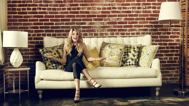 Grace Helbig records her E! Network talk show in a house in the Silver Lake section of Los Angeles.