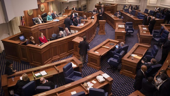 The Alabama Senate chamber. The special session ended Tuesday without a resolution of the shortfall in the state's General Fund budget.