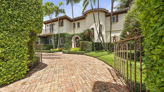A Mediterranean estate at 169 Everglade Ave. in Palm Beach has sold for $7 million, the price recorded May 19 with the deed.