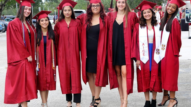 Palm Beach Central Graduation at The South Florida Fairgrounds, Tuesday, May 21, 2019.