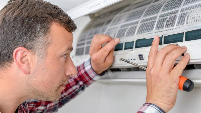 Having your air conditioner serviced once every year will keep it running at maximum efficiency.