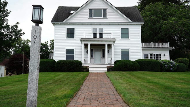A home for sale on Piscataqua Street in New Castle in July.