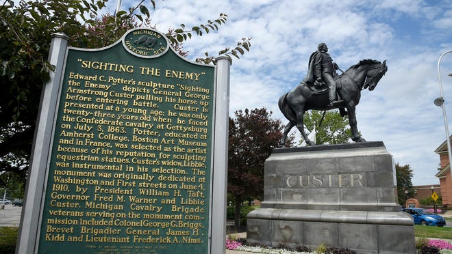 City of Monroe Manager Vince Pastue said addressing some residents' concerns about the Gen. George Armstrong Custer statue in downtown Monroe will take years as it navigates how to best approach the endeavor.