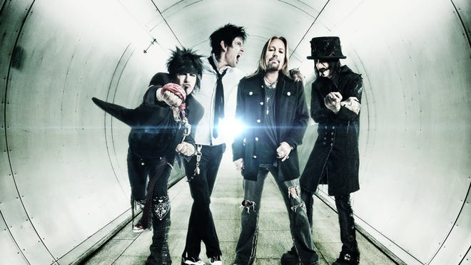 Mötley Crüe will be at Joe Louis Arena on Nov. 8. From left: Nikki Sixx, Tommy Lee, Vince Neil and Mick Mars.