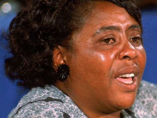 Fannie Lou Hamer, who helped found the Mississippi