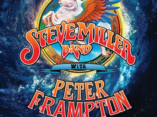 A promotional poster for the summer tour of the Steve Miller Band and Peter Frampton