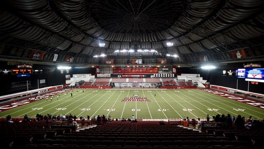 The DakotaDome before the first half of the Class 9B