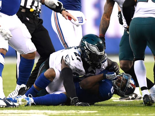 Philadelphia Eagles strong safety Malcolm Jenkins (27)