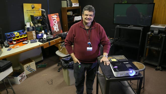 Steve Cali, the audio visual technician at the Rochester Museum and Science Center in Rochester.