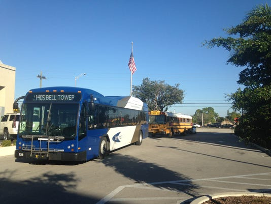 The Lee County Sheriff's Office is investigating a minor crash between a LeeTran bus and a Lee County school district bus.