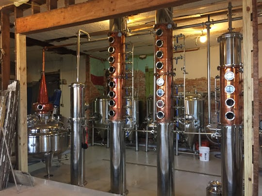 12.05 Distillery in Fletcher Place uses a 20-plate copper system that allows a wide variety of liquor to be distilled.