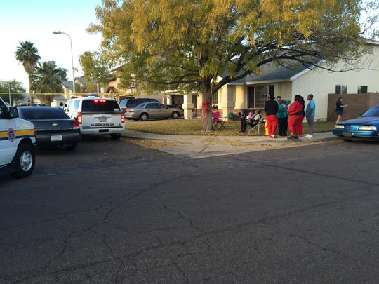 Scene of a double shooting in Glendale.