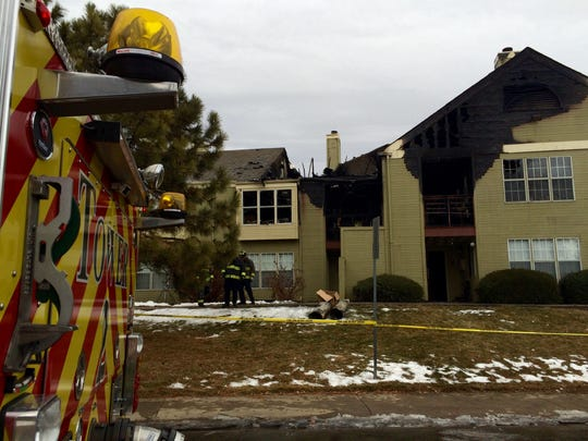 Crews remained on scene through the morning mopping up hot spots from the devastating blaze.