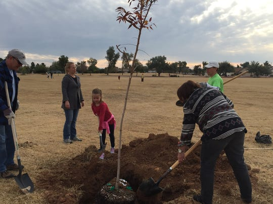 Kierally Malone, 6, was one of the volunteers helping plant at Paradise Cove Park Saturday morning.
