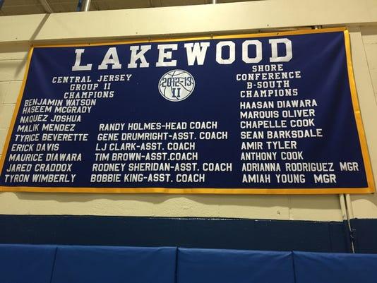 Lakewood boys basketball banner