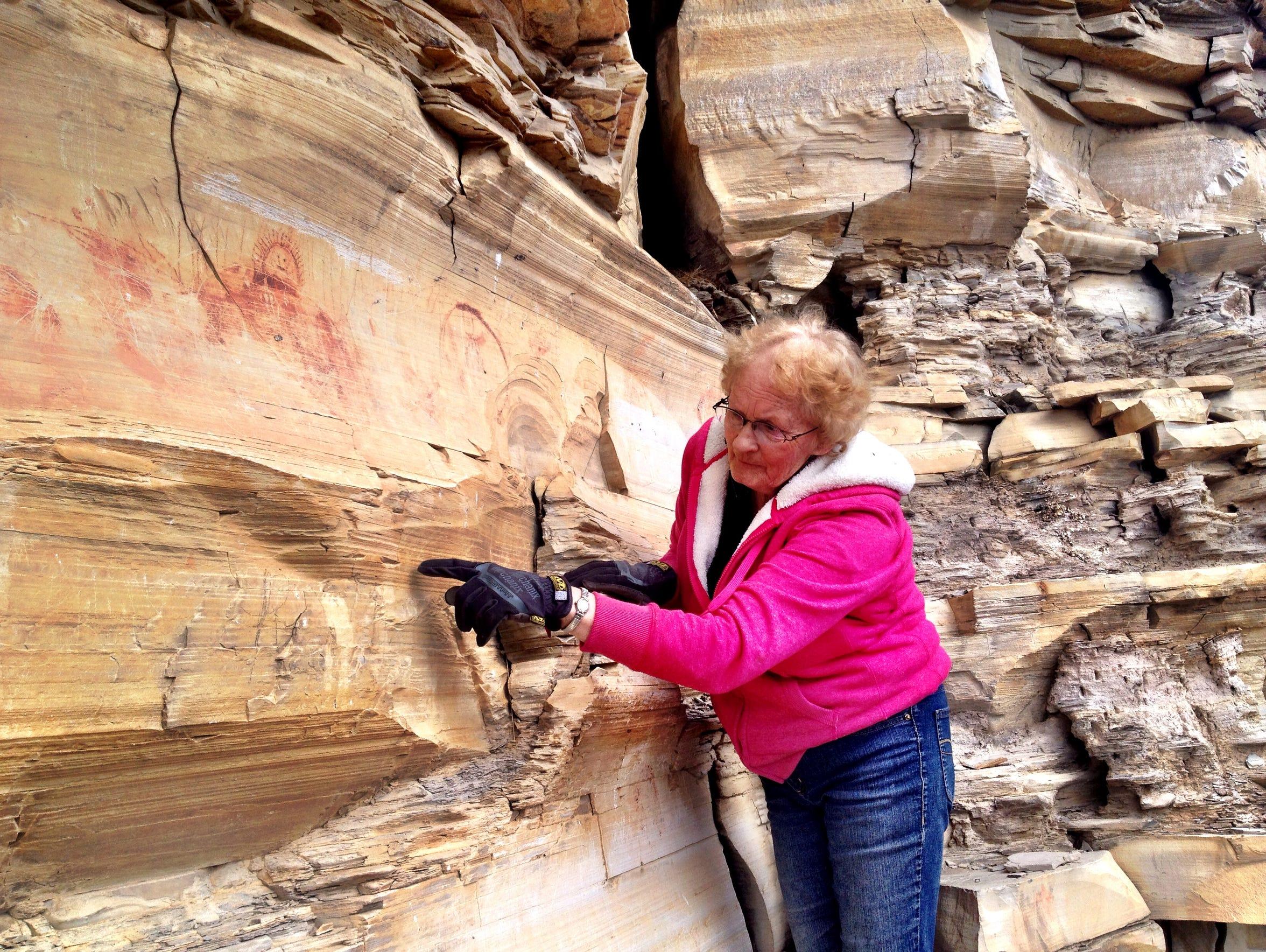Macie Ahlgren of Bear Gulch Pictographs