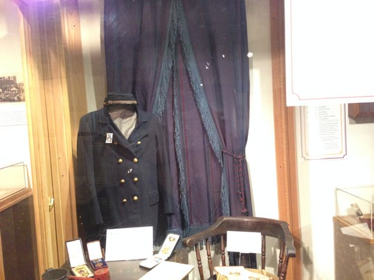 A Civil War uniform, worn by one of the 700 African-American