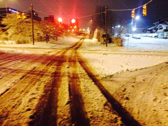The entrance ramp to I-240 in downtown Asheville.