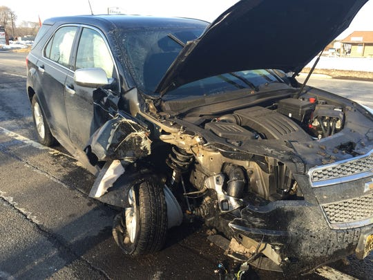 The driver of a 2014 Chevrolet Equinox was not injured