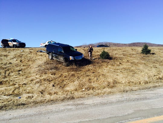 Police caused this SUV to crash Tuesday morning after