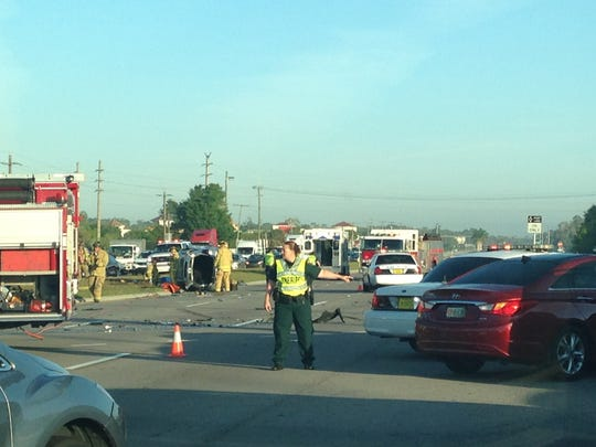 Accident at U.S. 41 and Michael G. Rippe Parkway.